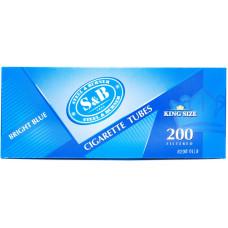 Гильзы сигаретные SnB Brigth Blue с фильтром 200 шт