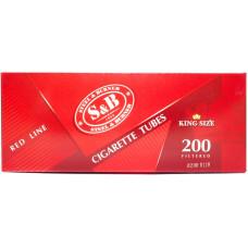 Гильзы сигаретные SnB Red Line с фильтром 200 шт