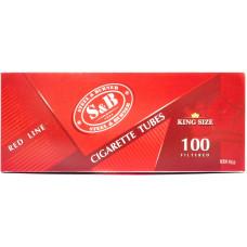 Гильзы сигаретные SnB Red Line с фильтром 100 шт