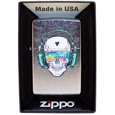 Зажигалка Zippo 29855 Skull Headphone Бензиновая