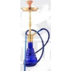 Кальян Amy Deluxe 4-Star 630 (blue, g) Колба Голубая Шахта Золотая h=72 см