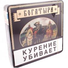 Папиросы БОГАТЫРИ трубочный табак (классический) портсигар 25 шт