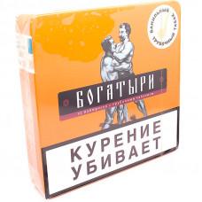 Папиросы БОГАТЫРИ трубочный табак (ванильный) портсигар 25 шт
