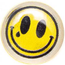 Значок Смайлик на Цанге Круг 17 мм Металлический
