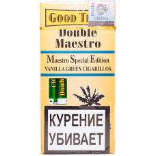 Сигариллы Good Times Double Maestro 5 шт Vanilla Дабл Маэстро зеленая ваниль
