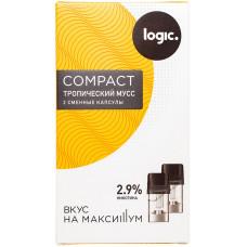 Logic Compact Pods Тропический мусс 2.9% 1.6 мл JTI Картридж Капсулы 2 шт