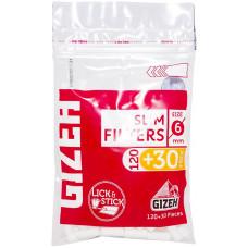 Фильтры для самокруток GIZEH Slim Filters 6 мм 120+30 шт