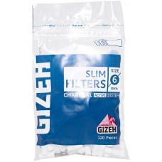 Фильтры для самокруток GIZEH Slim Filters Charcoal 6 мм 120 шт