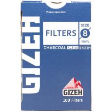 Фильтры для самокруток GIZEH Filters Charcoal 8 мм 100 шт