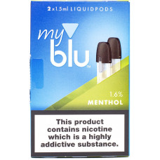 Картридж My Blu Menthol 16 мг/мл 2 шт Von Erl