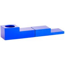 Трубка метал Магнит Синяя L=8 см Click Pipe YD005