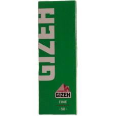 Бумага сигаретная GIZEH Fine Зеленая Cut Corners (скошенный угол) 50 листов