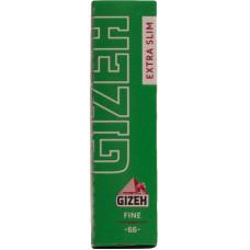 Бумага сигаретная GIZEH Fine Extra Slim Зеленая Cut Corners (скошенный угол) 66 листов